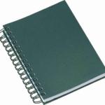 Agenda wire-o metalizada lisa verde 284L