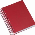 Agenda wire-o metalizada lisa vermelha 285L