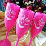 Taças de acrilico personalizadas Aline 21 anos