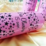 Copos long drink personalizados para aniversário Bia 15 anos