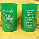 Canecas de acrilico personalizadas 400ml Gabriela