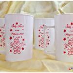 Canecas de acrilico personalizadas Feliz Natal