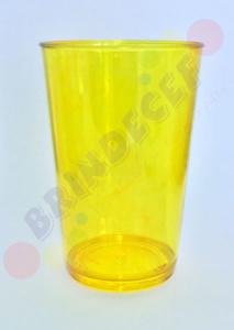 Copo Acrílico Caldereta Amarelo Transparente