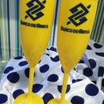 Taças de acrilico personalizadas Banco do Brasil