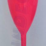Taça de Acrílico Rosa Opaca
