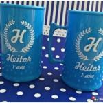 Canecas de acrílico personalizadas Heitor 1 ano