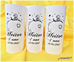 Copos long drink personalizados Heitor tema pequeno príncipe