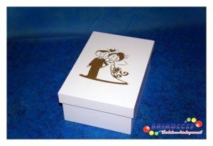 Caixa chandon n2 branca com dourado