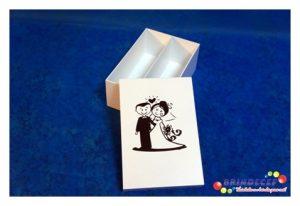 Caixa chandon n2 branca com preto