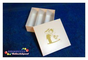 Caixa chandon n3 branca com dourado