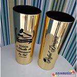 Copos long drink metalizados para formatura de Direito