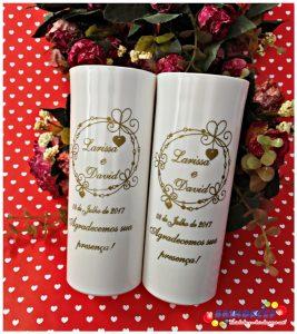 Copos long drink personalizados Larissa e David