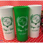 Copos long drink personalizados Diego e Carol