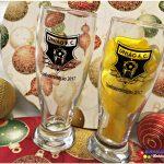 Copos de vidro munich personalizados para confraternizações de final de ano