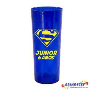 Copos long drink twister personalizados Junior 6 anos