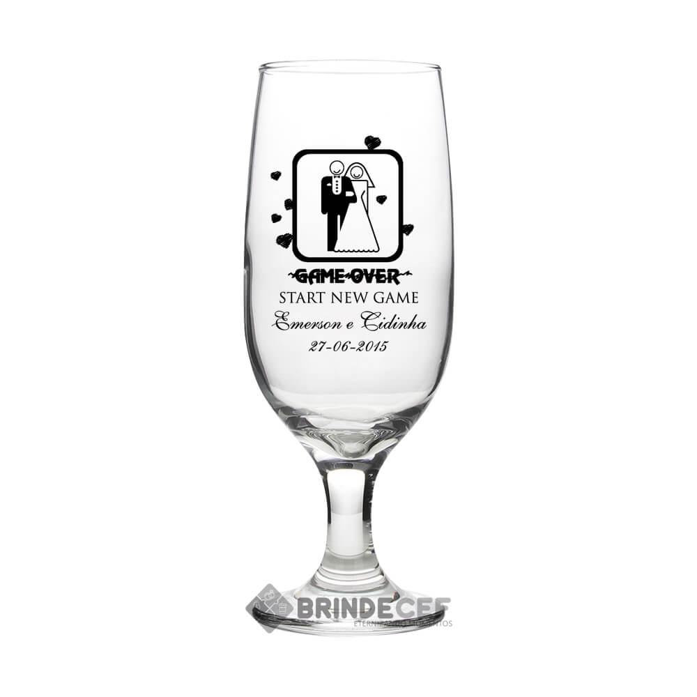 Taça de Vidro Personalizada Sm Buffet Champanhe 186ml 2