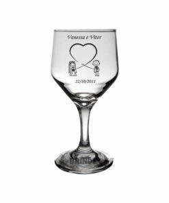 Taça de Vidro Personalizada Bistrô para Vinho Tinto e Branco 1