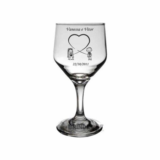 Taça de Vidro Personalizada Bistrô para Vinho Tinto e Branco