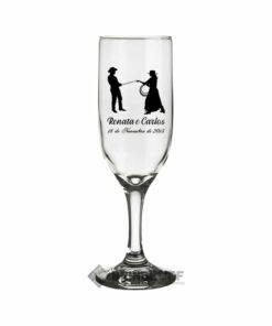Taça de Vidro Personalizadas para Champanhe Gallant 180ml 2