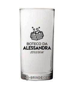 Copo Long Drink de Vidro Personalizado - Cylinder 300ml