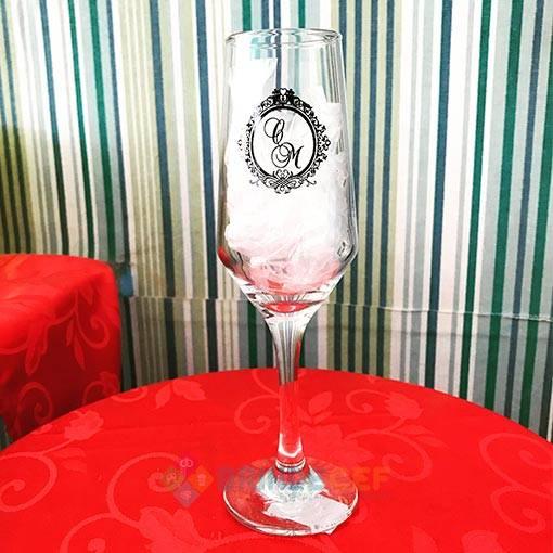 Taça de Vidro Personalizada Sm Buffet Champanhe 186ml