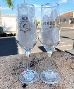 Taças de Vidro Personalizadas Sm Buffet Champanhe 186ml 3