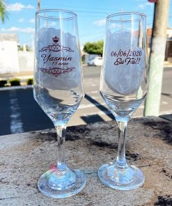 Taças de Vidro Personalizadas Sm Buffet Champanhe 186ml 2