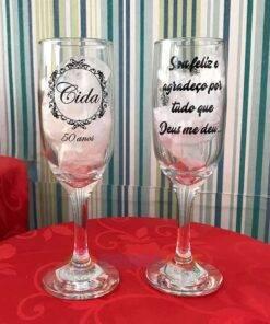 Taça de Vidro Personalizadas para Champanhe Gallant 180ml 1