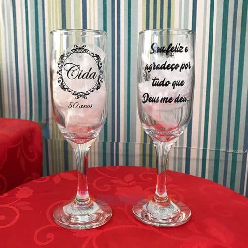 Taça de Vidro Personalizadas para Champanhe Gallant 180ml