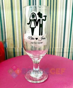 Taça de Vidro Personalizada para Cerveja - Floripa 300ml 2