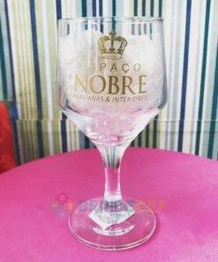Taça de Vidro Personalizada Bistrô para Vinho Tinto e Branco 3