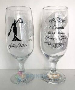 Taça de Vidro Personalizada para Cerveja - Floripa 300ml 9