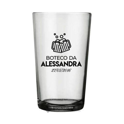 Copo de Cerveja Caldereta Personalizado de Vidro 350 ml