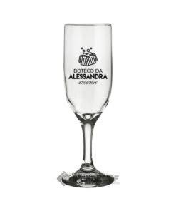 Taça de Vidro Personalizada Bistrô Champanhe 185ml