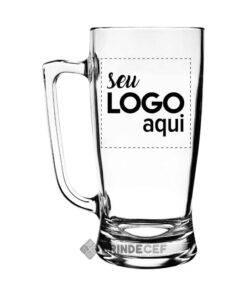 Caneca de Vidro Personalizada Taberna para Empresa - 600ml