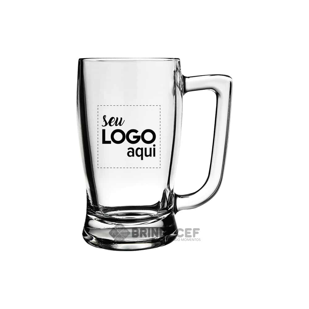 Caneca de Vidro Personalizada Taberna para Empresa - 340ml