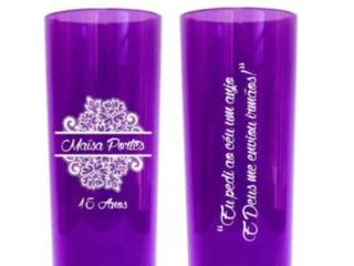 copo Long Drink personalizado transparente roxo