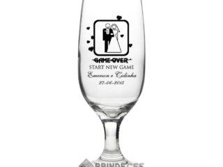 Taça de Vidro Personalizada Sm Buffet Champanhe 186ml 3
