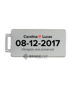 Chaveiros Personalizados Modelo Placa