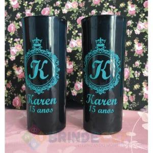 Copos Long Drink Personalizados Karen 15 Anos