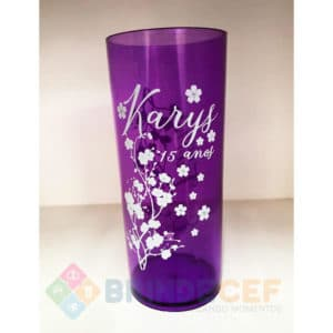 Copos Long Drink Personalizados Karys 15 Anos