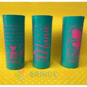 Copos Long Drink Personalizados Manu 8 Anos
