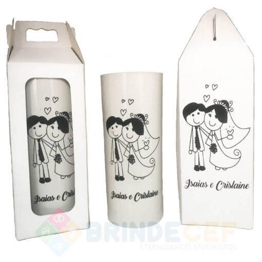 Kit Caixinha + Copo Long Drink Personalizado