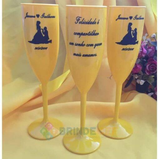 Taça de Acrílico Personalizada Casamento Jussara e Guilherme