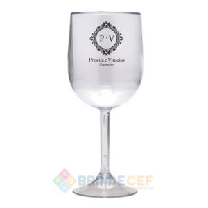 Taça de Vinho de Acrílico Personalizada