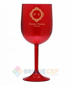Taça de Vinho de Acrílico Personalizada 2
