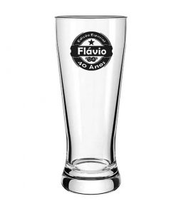 Copo de Cerveja de Vidro Lager 300ml Personalizado
