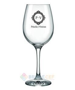 Taça de Vidro de Vinho Barone 385ml Personalizada