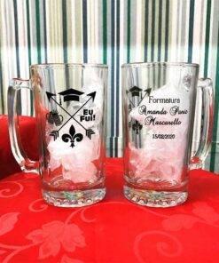 Canecas de Vidro Para Cerveja Personalizadas 383mL Manhattan para Brindes e Eventos 8