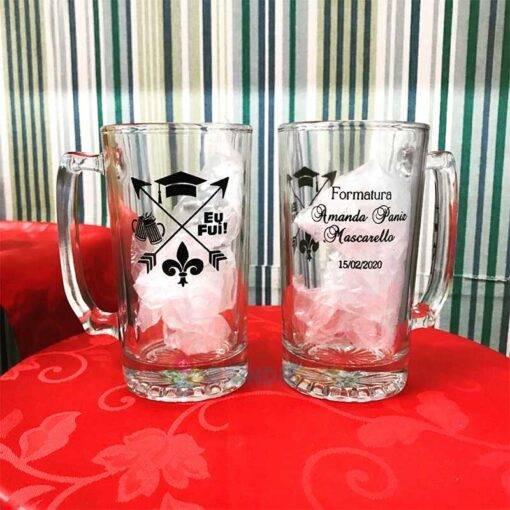 Canecas de Vidro Para Cerveja Personalizadas 383mL Manhattan para Brindes e Eventos